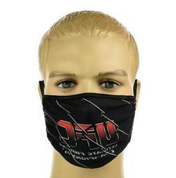 Black Washable Sport Face Mask with UFC Print Elastic Reusab