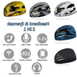 Bluetooth Headband & Eye Mask Wireless Headset With Mic Ster