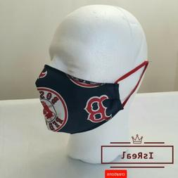Boston Red Sox face mask. Logo in the middle.