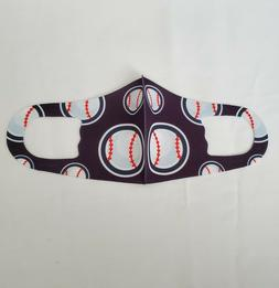 Boy's Face Mask Sports Designs Face Cover 1 Piece Washable R