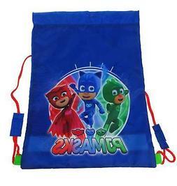 boys drawstring sports trainer bag blue back