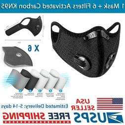 BREATHABLE Cycling Face Mask + 6 Filters PM2.5 Activated Car