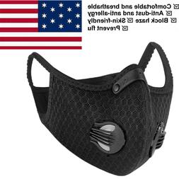 Breathable Face Mask Anti-fog Filter Reusable Sport Exhaust
