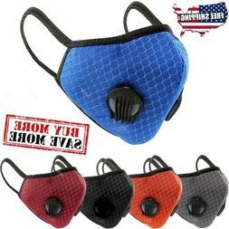 Breathable Nylon Mesh Dual Air Valve Face Mask Covering With