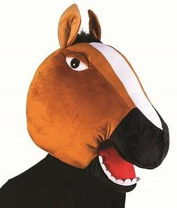 Brown Horse Mascot Animal Head Mask School Sports Events Adu