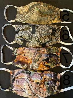 Camo hunting theme Face Mask 100% double layer cotton preshr