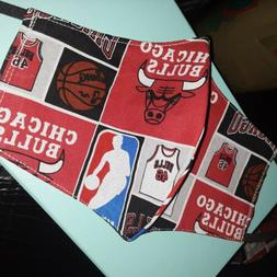 Chicago Bulls Fabric Washable Reusable Face Mask Covers CHIC