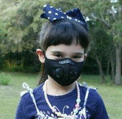 Children's Sports Face Mask  5 Layer Filter Activated Carbon