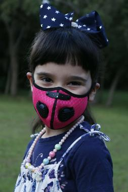 Childrens Sports Face Mask  5 Layer Filter Activated Carbon