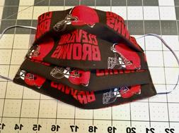 CLEVELAND BROWNS Helmets Fabric Face Mask Brown Cotton Washa