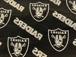 Cotton Face Mask Raiders Silver and Black - Washable Various