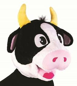 Cow Mascot Animal Head Big Mask School Sports Events Adult C