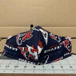 Custom Made Handmade Houston Texans Football Mask  Fabric Wa