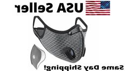 Cycling Air Purifying Face Mask Cover Washable Reusable Filt