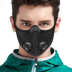 Cycling Mask Half Face with Filter Dual-valve Breathable Bik