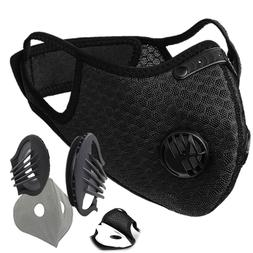 Cycling Riding Reusable Dust Face Mask with Breathing Valve