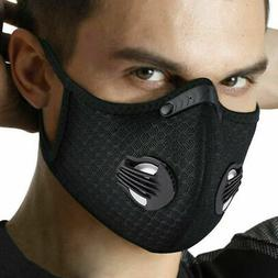 Cycling sport face mask with activated carbon filter anti po