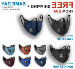 Cycling Sport Face Mask With Active Carbon Filter Breathing