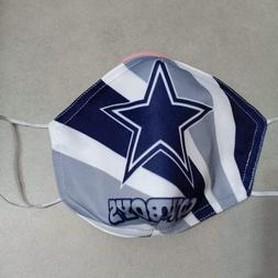 Dallas  Cowboys Face Mask, Washable, Reusable- Free USPS Fir