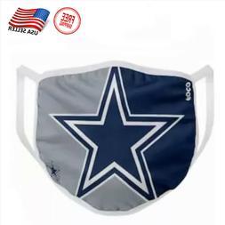 Dallas Cowboys Face Mask Washable, Reusable & Cotton NFL Tea