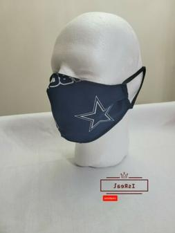 Dallas Cowboys NFL Football Face Mask  100% Cotton . Limited