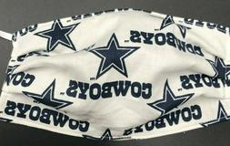 Dallas Cowboys Star Face Mask Reusable Washable Double Layer