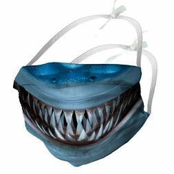 Designer Face Mask Filter Pocket * SHARK SMILE* EU made +OPT