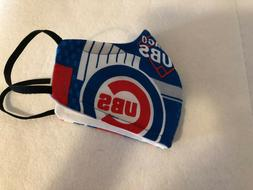 DIY Chicago Cubs Wahsable Face Mask With Filter / Made in US