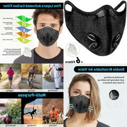 Dust Mask Sports Face Cover Mask With 6 Filters, Reusable Wi
