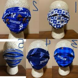 EXTRA LARGE UK UNIVERSITY Of KENTUCKY FACE MASK 5 STYLES AVA