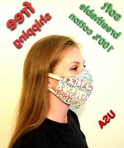 Face Mask Anti-Fog Fashion Sport Design Re-Usable Wash USA F