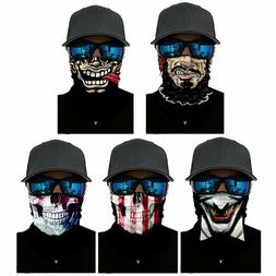 Biker Scarf Balaclava Breathable Face Neck Mask Skull Funny