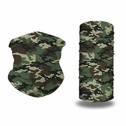 Face Mask Bandanas 2 Pack, Polyester Stretchy Outdoor Sports