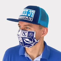FACE MASK Cotton Reusable Face Black Men Tampa Bay Lightning
