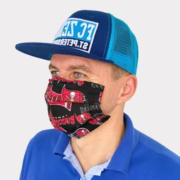 FACE MASK Cotton Reusable Face Black Men Tampa Bay Football