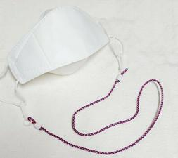 "Face Mask Holder~MASK Necklace  25-26"" -  5pcs  SHIP FROM"