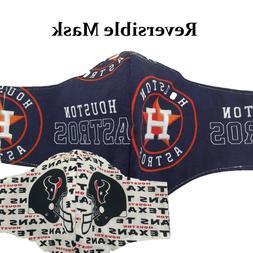 Face Mask Houston Astros Texans Baseball Football Sports Ora