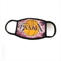 Face Mask Lakers Washable Reusable Multicolor Made in USA