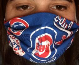 Face Mask Made With Chicago Cubs MLB Fabric Sports Baseball