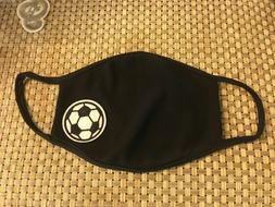 Face Mask Protective Black Washable Reusable Soccer Ball Spo