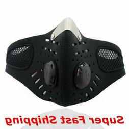 Face Mask Reusable Cover Cycling Covering 2 Exhalation Valve