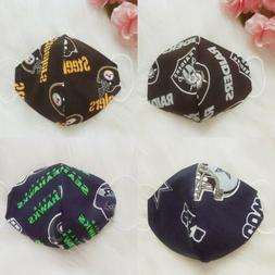Face Mask Reusable NFL Team Double Layer Protection Filter C