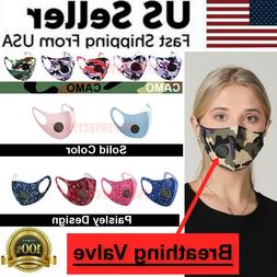 Face Mask Reusable Washable Cover Camo Adult Cloth Breathabl