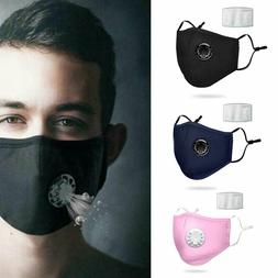 Face Mask Shield Mouth Cover Exhalation Valve PM2.5 Filter a