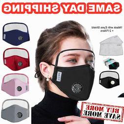 face mask w eyes shield reusable washable