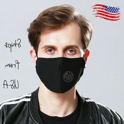 Cotton cloth Mask PM 2.5 with valve + 2 filter free washable