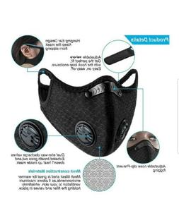 Face Mask With Filter Activated Carbon 1 mask 2 Filters Same