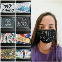 Face Masks: New Fashion Styles, Soft Washable Fabric, Pollut