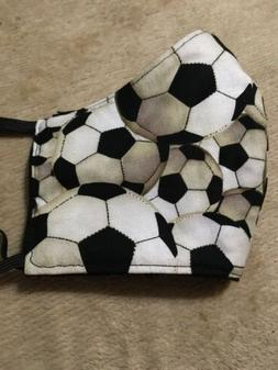 Handmade Facemask Cotton Washable Soccer Sports Ball Adult C