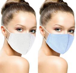 Fashion 3D Reusable Washable Face Mask Striped Cotton Men's